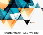 triangular low poly a4 size... | Shutterstock . vector #669791182
