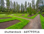 beautiful park landscape.... | Shutterstock . vector #669795916