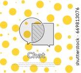 chat bubbles concept. vector...   Shutterstock .eps vector #669813076