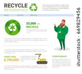 recycle infographic banner... | Shutterstock .eps vector #669829456
