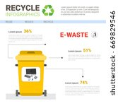 rubbish container for e waste...   Shutterstock .eps vector #669829546