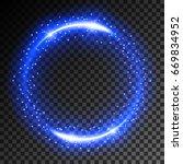 abstract neon light effect on... | Shutterstock .eps vector #669834952
