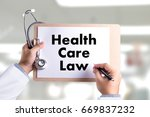 health care law health benefits ... | Shutterstock . vector #669837232