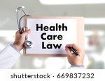 health care law health benefits ... | Shutterstock . vector #669837232