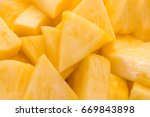 close up of ripe pineapple... | Shutterstock . vector #669843898