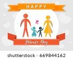 happy parents day vector... | Shutterstock .eps vector #669844162