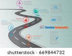 design template  road map... | Shutterstock .eps vector #669844732