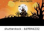 happy halloween vector... | Shutterstock .eps vector #669846232