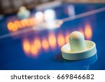 air hockey table game at home ... | Shutterstock . vector #669846682