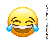 the emoji yellow face lol laugh ...   Shutterstock . vector #669849526