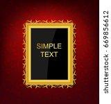 gold vintage picture frame on... | Shutterstock .eps vector #669856612