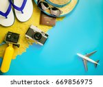 summer beach island travel...   Shutterstock . vector #669856975