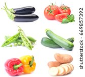 fresh vegetables | Shutterstock . vector #669857392