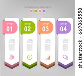 infographic template of four...   Shutterstock .eps vector #669865558