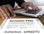 cv   curriculum vitae  job...   Shutterstock . vector #669868792