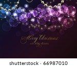 elegant christmas background...   Shutterstock .eps vector #66987010