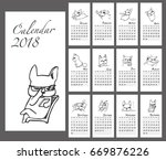 calendar planner template. 2018.... | Shutterstock .eps vector #669876226