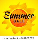summer sale template banner... | Shutterstock . vector #669882622