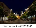 gedimino prospektas in vilnius  ... | Shutterstock . vector #669897145