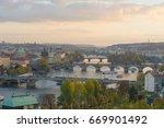 prague panoramic landscape | Shutterstock . vector #669901492