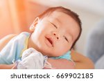 mother and her little baby at... | Shutterstock . vector #669902185