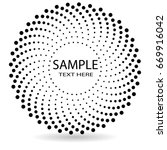 halftone dots in circle form.... | Shutterstock .eps vector #669916042