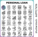 personal loan concept detailed... | Shutterstock .eps vector #669917656