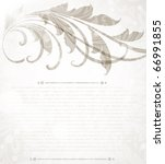 invitation vintage card with... | Shutterstock .eps vector #66991855
