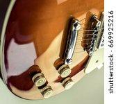 rock guitar. close up view part ... | Shutterstock . vector #669925216