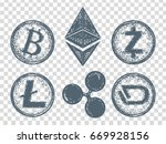 crypto currency elements icon.... | Shutterstock .eps vector #669928156