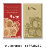 wine label for wine grapes an... | Shutterstock .eps vector #669928252