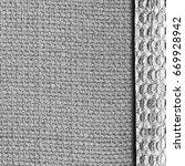Gray Textile  Background Of Tw...