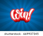 win lettering text banner.... | Shutterstock .eps vector #669937345
