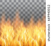 red flames  fire transparent... | Shutterstock .eps vector #669940012