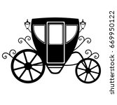 Wedding Carriage. Decorative...