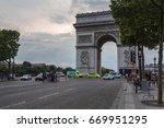 champs elysees  paris  france   ... | Shutterstock . vector #669951295