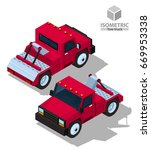 tow truck. isometric | Shutterstock .eps vector #669953338