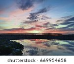 sunset on the baltic sea | Shutterstock . vector #669954658
