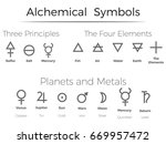 alchemical  symbols icons  set  ... | Shutterstock .eps vector #669957472
