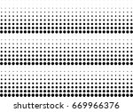 abstract halftone dotted... | Shutterstock .eps vector #669966376