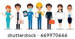 professions. set of cartoon... | Shutterstock .eps vector #669970666