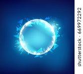 abstract shiny broken blue ball ...   Shutterstock .eps vector #669972292