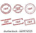 cat stamps | Shutterstock .eps vector #669976525