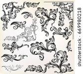 calligraphic vector vintage... | Shutterstock .eps vector #669980218