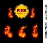 fire flame vector element... | Shutterstock .eps vector #669981838