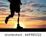 concept of disability. man with ... | Shutterstock . vector #669985222