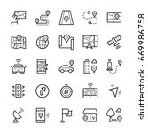 simple icon set of navigation...   Shutterstock . vector #669986758