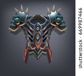 iron fantasy chest armor for...