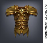 iron fantasy chest armor for... | Shutterstock .eps vector #669987472