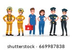 police  fire and ambulance.... | Shutterstock .eps vector #669987838